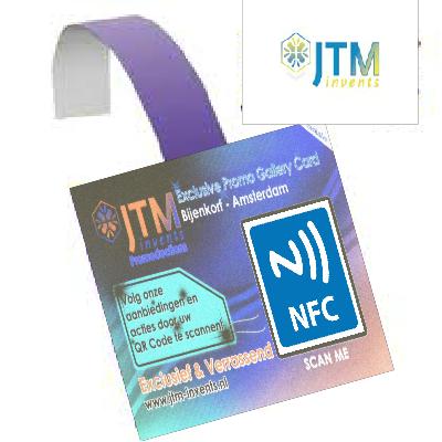 NFC/QR-Code Wobbler – Tag & Go